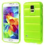 Gélové vesta puzdro pre Samsung Galaxy S5- zelené - 1/6