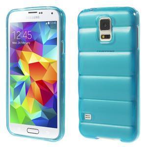 Gélové vesta puzdro pre Samsung Galaxy S5- modré - 1