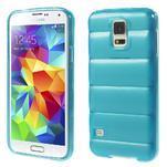 Gélové vesta puzdro pre Samsung Galaxy S5- modré - 1/6