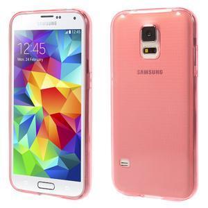 Gelové ultraslim pouzdro na Samsung Galaxy S5- červené - 1