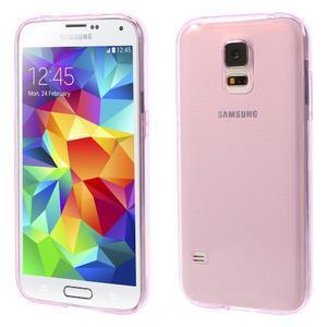Gelové ultraslim pouzdro na Samsung Galaxy S5- růžové - 1