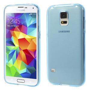 Gelové ultraslim pouzdro na Samsung Galaxy S5- modré - 1