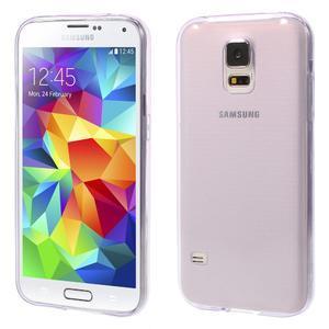 Gélové ultraslim puzdro pre Samsung Galaxy S5- fialové - 1