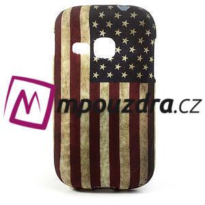 Gélové puzdro na Samsung Galaxy Young S6310- USA vlajka - 1