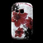 Gélové puzdro pre Samsung Galaxy Young S6310- červený kvet - 1/5