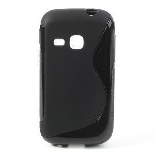 Gélové S-line puzdro na Samsung Galaxy Young S6310- čierné - 1
