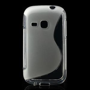 Gélové S-line puzdro na Samsung Galaxy Young S6310- transparentný - 1