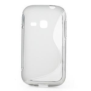 Gélové S-line puzdro na Samsung Galaxy Young S6310- šedé - 1