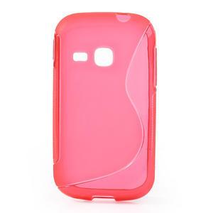 Gélové S-line puzdro pre Samsung Galaxy Young S6310- ružové - 1