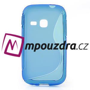 Gélové S-line puzdro na Samsung Galaxy Young S6310- modré - 1