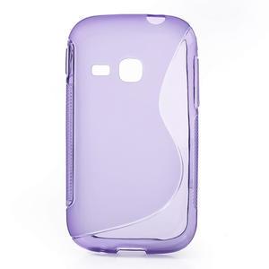 Gélové S-line puzdro pre Samsung Galaxy Young S6310- fialové - 1
