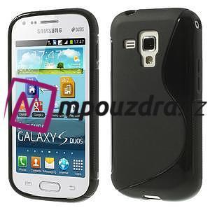 Gélové S-line puzdro pre Samsung Trend plus, S duos- čierné - 1