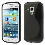 Gélové S-line puzdro pre Samsung Trend plus, S duos- čierné - 1/5
