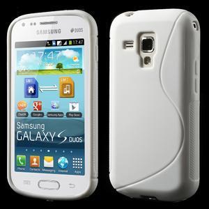 Gélové S-line puzdro pre Samsung Trend plus, S duos- biele - 1