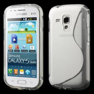 Gélové S-line puzdro pre Samsung Trend plus, S duos- transparentný - 1