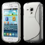 Gélové S-line puzdro pre Samsung Trend plus, S duos- transparentný - 1/4