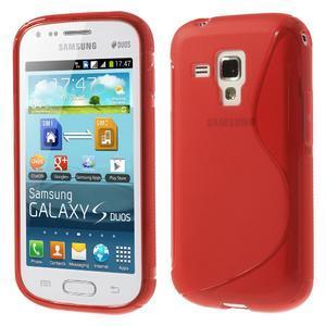 Gélové S-line puzdro pre Samsung Trend plus, S duos- červené - 1