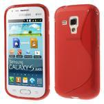 Gélové S-line puzdro pre Samsung Trend plus, S duos- červené - 1/5