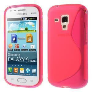 Gélové S-line puzdro pre Samsung Trend plus, S duos- růžové - 1