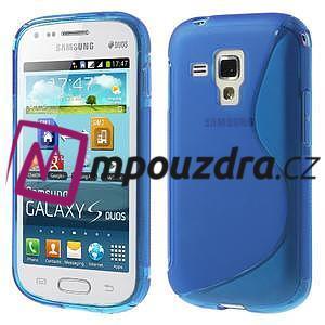 Gélové S-line puzdro pre Samsung Trend plus, S duos- modré - 1