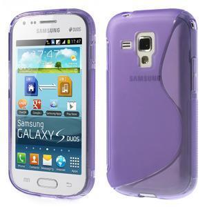 Gélové S-line puzdro pre Samsung Trend plus, S duos- fialové - 1