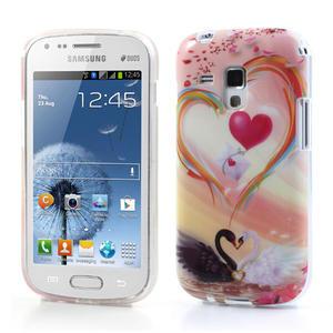 Gélové puzdro na Samsung Galaxy Trend, Duos- labutí srdce - 1
