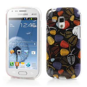 Gélové puzdro pre Samsung Galaxy Trend, Duos- lístky - 1