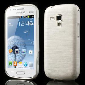 Kartáčované puzdro na Samsung Galaxy Trend, Duos- biele - 1
