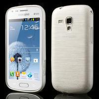 Kartáčované puzdro na Samsung Galaxy Trend, Duos- biele - 1/6