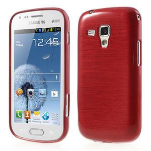 Kartáčované puzdro na Samsung Galaxy Trend, Duos- červené - 1