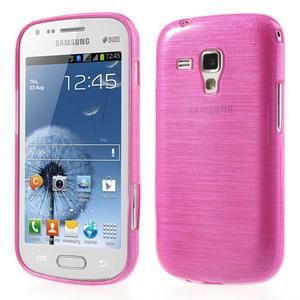 Kartáčované puzdro na Samsung Galaxy Trend, Duos- růžové - 1