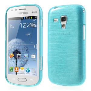 Kartáčované puzdro na Samsung Galaxy Trend, Duos- modré - 1