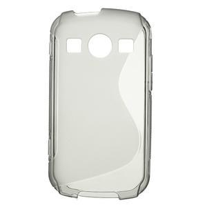 Gélové S-line puzdro pre Samsung Galaxy Xcover 2 S7710- šedé - 1