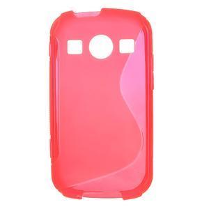Gélové S-line puzdro na Samsung Galaxy Xcover 2 S7710- růžové - 1