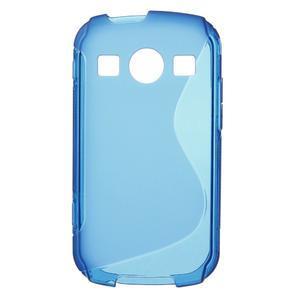 Gélové S-line puzdro na Samsung Galaxy Xcover 2 S7710- modré - 1