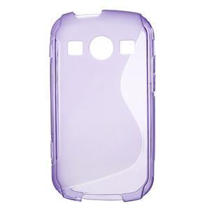 Gélové S-line puzdro na Samsung Galaxy Xcover 2 S7710- fialové - 1