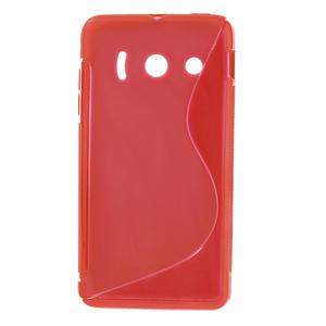 Gélové S-line puzdro na Huawei Ascend Y300- červené