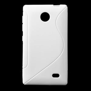 Gélové S-line puzdro na Nokia X dual- biele - 1