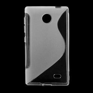 Gélové S-line puzdro na Nokia X dual- transparentný - 1