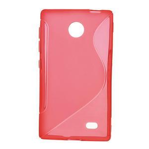 Gélové S-line puzdro na Nokia X dual- červené - 1