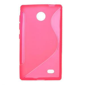 Gélové S-line puzdro na Nokia X dual- ružové - 1