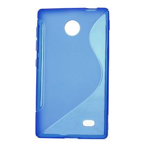 Gélové S-line puzdro na Nokia X dual- modré - 1