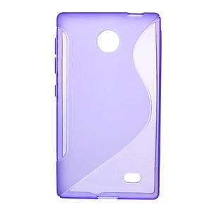 Gélové S-line puzdro na Nokia X dual- fialové - 1