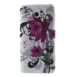 Gélové puzdro na Huawei Ascend Y530- fialový květ