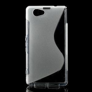 Gélové S-line puzdro pre Sony Xperia Z1 Compact D5503- transparentný - 1