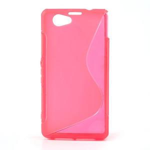 Gélové S-line puzdro na Sony Xperia Z1 Compact D5503- růžové - 1