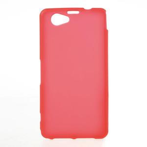 Gélové Ultraslim puzdro pre Sony Xperia Z1 Compact D5503- červené - 1