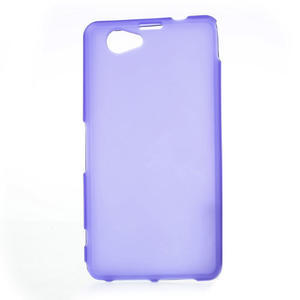 Gélové Ultraslim puzdro na Sony Xperia Z1 Compact D5503- fialové - 1