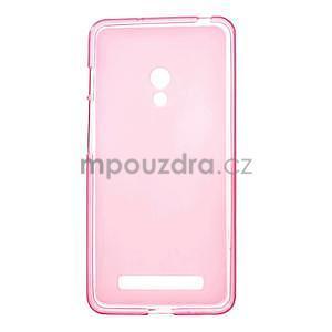 Gélové matné puzdro pre Asus Zenfone 5 - ružové - 1