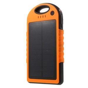 Outdoor GX vysokokapacitní externí solární nabíjačka 12 000 mAh - oranžová - 1